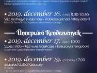 Ünnepváró rendezvények Nyíregyházán, a Jósavárosi Művelődési Házban