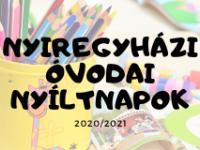 Óvodai nyilt napok 2020/2021